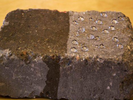 Halv betongstein impregnert